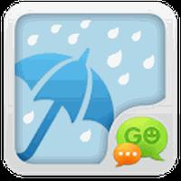 Ikon apk GO SMS Pro Rainy day Theme