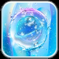 Icono de Azul Transparente Gotas de Agua-APUS Launcher