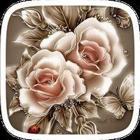 Golden Rose Flower Theme apk icon