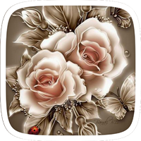 Golden Rose Flower Theme icon