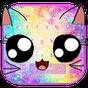 Galaxy Kitty Emoji Keyboard Theme 10001001
