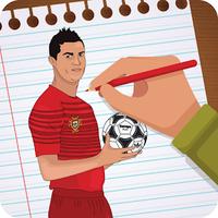 Messi & Ronaldo : How to draw Neymar icon
