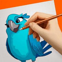 Ícone do apk How to Draw Cartoons - Rio