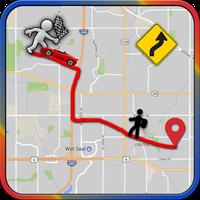Ícone do rastreamento de rota GPS