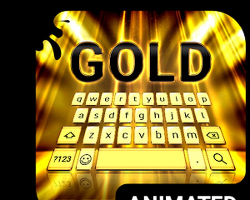 Teclado Animado Raios Dourados Android Baixar Teclado Animado