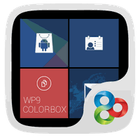Color Box GO Live Theme (Blue) icon