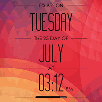 Inspired Clock Skin - UCCW HD Android - Free Download Inspired