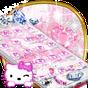 ธีมลูกแมวเพชรสีชมพูเจ้าหญิงหวานคิตตี้จี้วอลล์เปเปอ 1.1.7