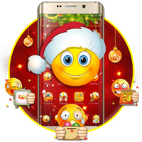 Icône apk Thème Emoji de Noël