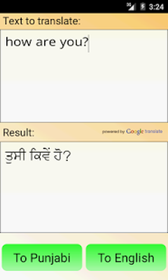 Punjabi English Translator Android - Free Download Punjabi