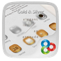 Gold&Silver GO Launcher Theme v1.0