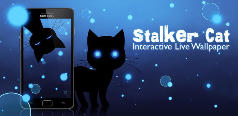 Screenshots Of Stalker Cat Live Wallpaper