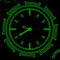 Ikona apk Neon Clock GL Live wallpaper