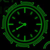 Neon Clock GL Live wallpaper apk icon
