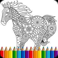 Hayvan mandala boyama kitabı Simgesi