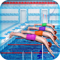 Swimming Pool Race Games for Girls apk icon