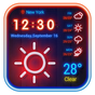 Weather App Neon Theme 2018 16.1.0.47691