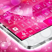 Ícone do apk Teclado rosa para Android