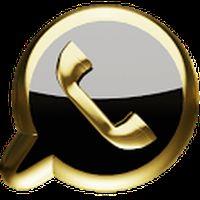 Ícone do 3D whatsapp ouro