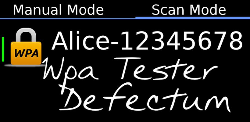 ANDROID TÉLÉCHARGER DEFECTUM WPA TESTER