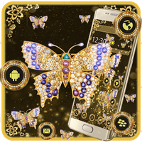 Golden Butterfly Luxury Theme icon
