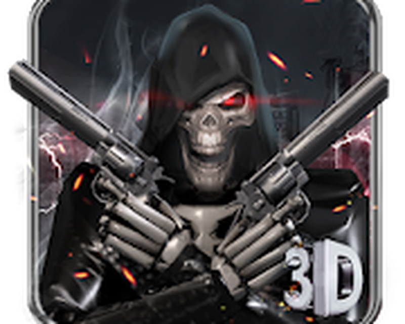 3d Death Skull Gun Theme Android Free Download 3d