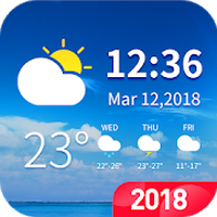 7- day weather forecast and daily temperature Icon