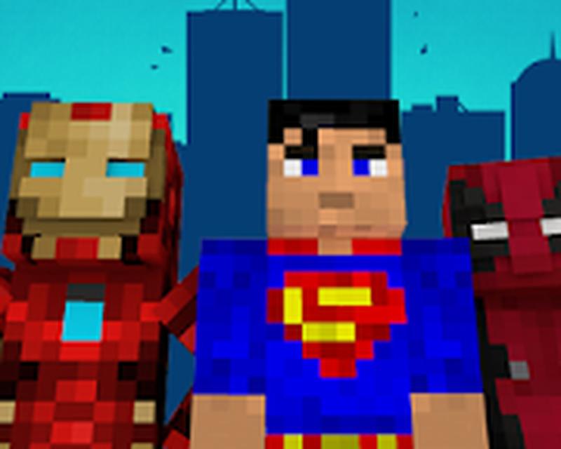 майнкрафт скины супергероев #1
