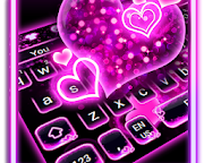 Sparkling Neon Pink Keyboard Android - Free Download