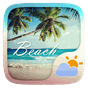 Beach GO Weather Widget Theme 1.0.2