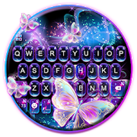 Sparkle Neon Butterfly Keyboard Theme Android - Free Download