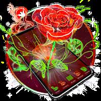 APK-иконка 3D Неоновая Роза Тема