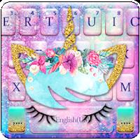 Galaxy Flower Unicorn Keyboard Theme icon