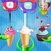 Ikon apk Pabrik cupcake ice cream cone: permainan pembuat
