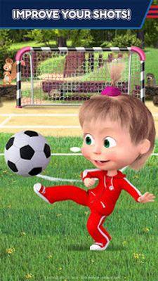 Image 1 of Masha and the Bear: Soccer Games - Free Kicks