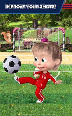 Image 9 of Masha and the Bear: Soccer Games - Free Kicks