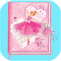 Girls Pink Diary With Fingerprint Code apk icon