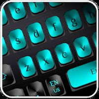 Black Blue Metal Keyboard apk icon