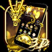 Biểu tượng apk Chủ đề Rồng Vàng 3D