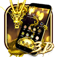 3D Gold Dragon Theme apk icon