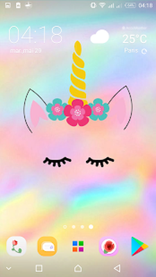 Cute Unicorn Girl Wallpapers Kawaii Backgrounds Android Free