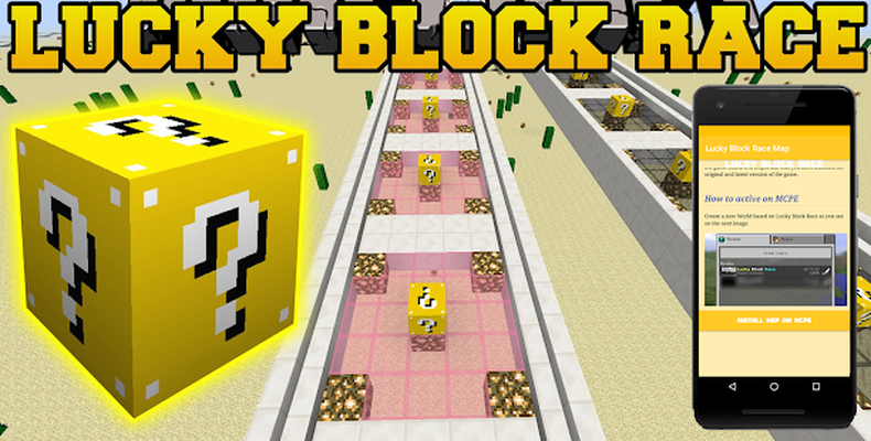 Baixar Lucky Block Race Map for MCPE 1 0 APK Android grátis
