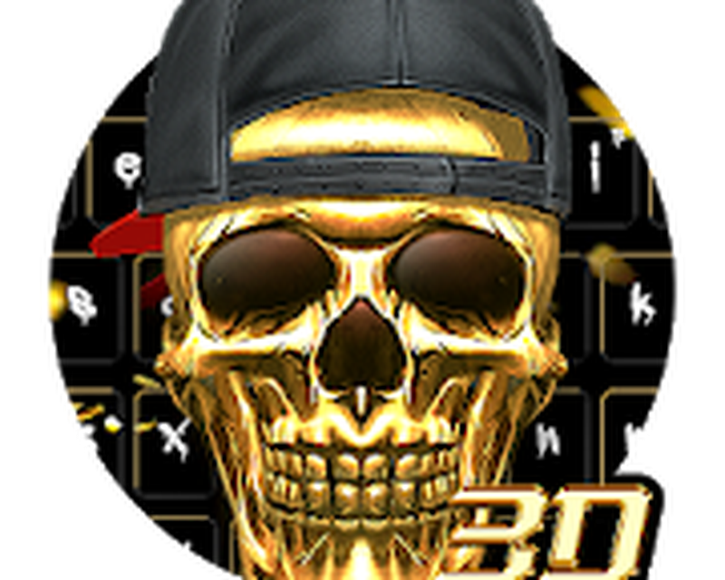 3D Hip-Hop Skull Keyboard Android - Free Download 3D Hip