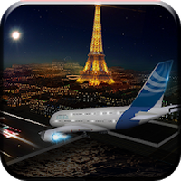 Icône apk avion simulateur de vol 3D ville voler aviation