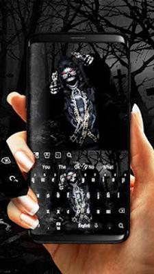 3D Live Skull & Gun Keyboard Android - Free Download 3D Live Skull