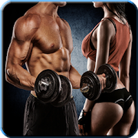 Fitness ve Vücut Geliştirme Çalışması Simgesi
