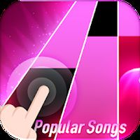 Flower Pink Piano Tiles - Magic Butterfly Tiles APK Simgesi
