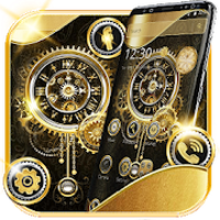 Ikon apk Golden Luxury Clock Launcher