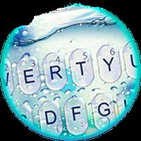 Blue Glass Water Drops Keyboard Theme icon