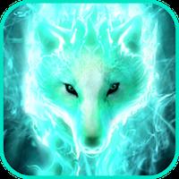 Fondo de pantalla de lobo de fantasía apk icono